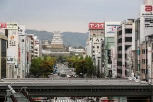 Himeji ze stacji kolejowej