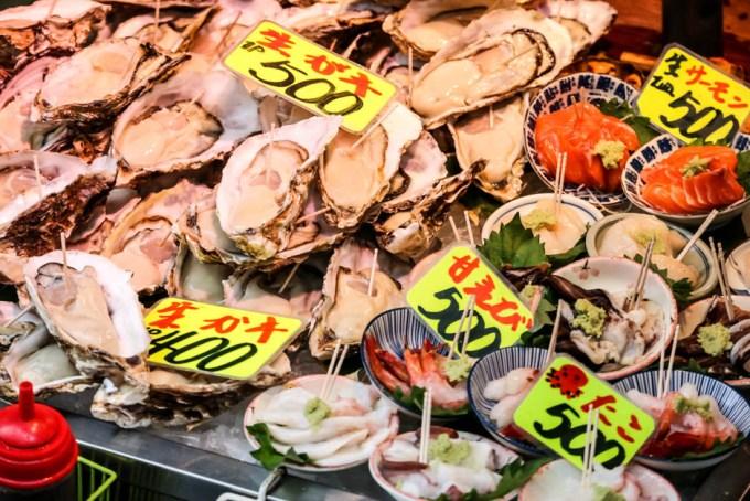 Targ Tsukiji Tokio ostrygi