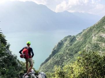 Pierwszy widok na jezioro Garda
