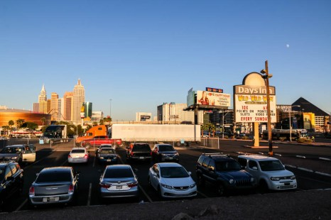 Las Vegas przy motelu
