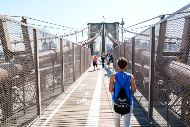 Most Brookliński przejście dla pieszych