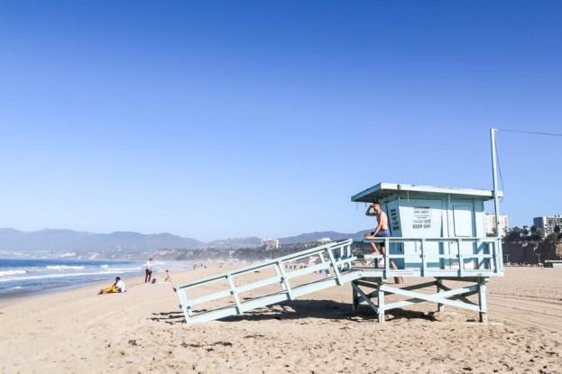Plaża Santa Monica budka ratownicza