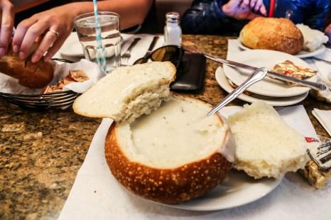 San Fransisco clam chowder