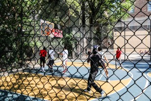 Washington Square Park mecz w kosza