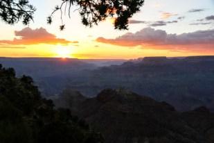Wielki Kanion zachód słońca