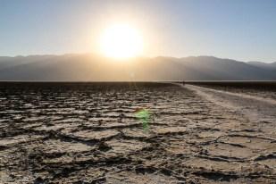 jeziora Badwater słońce