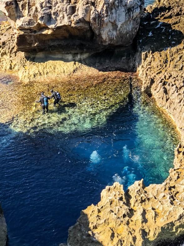 Nurkowanie w Blue Hole Gozo