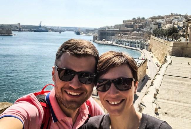Widoki na port Valetta