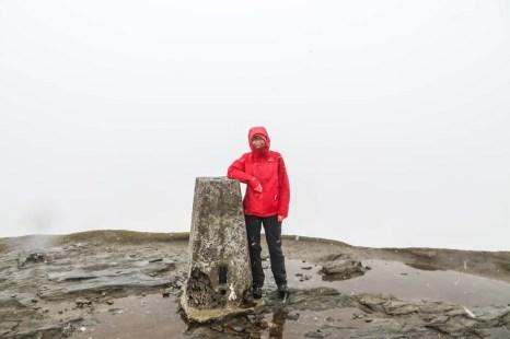 Mgła na szczycie Ben Lomond