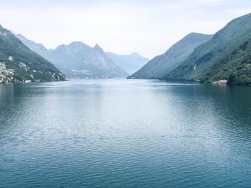 Pierwsze widoki na jezioro Lugano