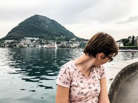 Widok na Monte San Salvatore z Lugano