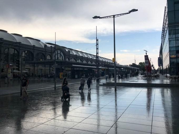 Powrót na dworzec Drezna