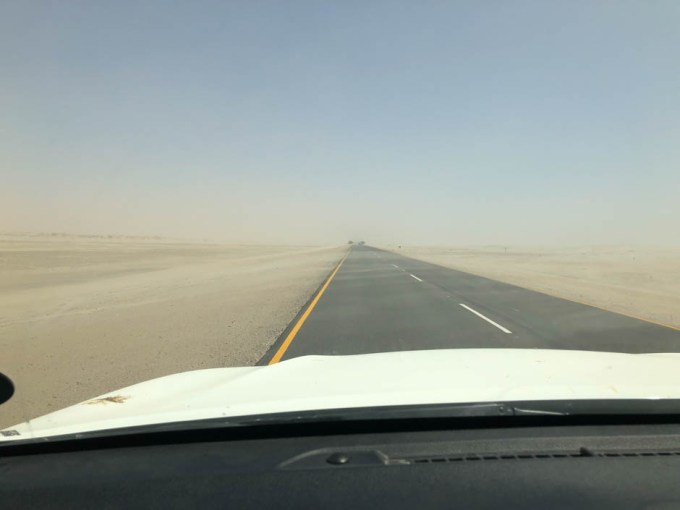 Burza piaskowa za Walvis Bay