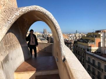 Casa Mila widok Sagrada Familia