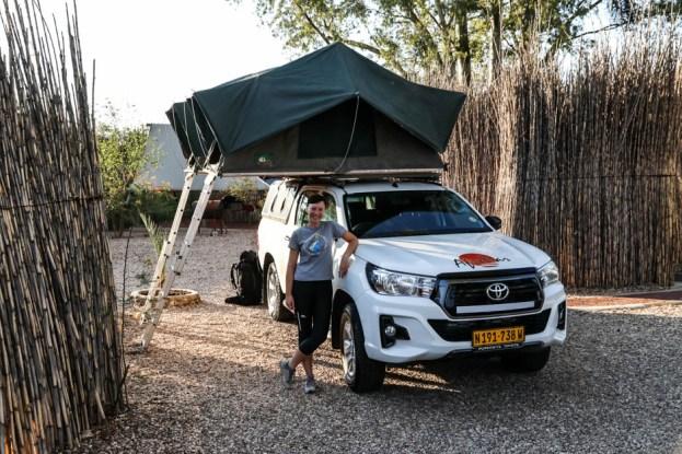 Pierwszy kemping Windhuk Namibia