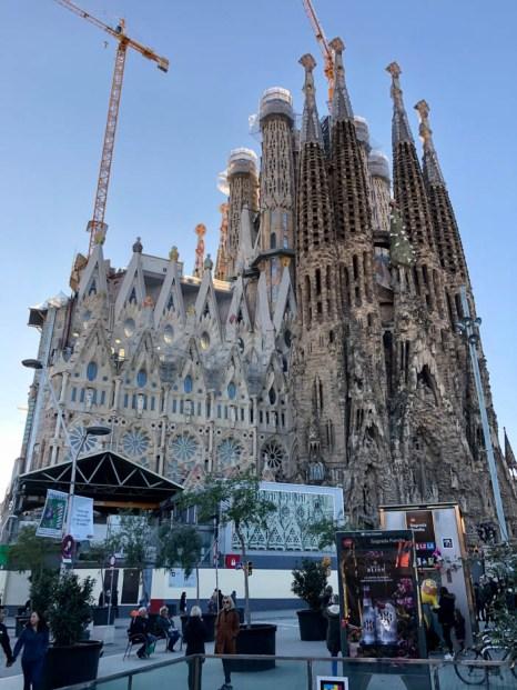 Sagrada Familia Barcelona wejście do metra