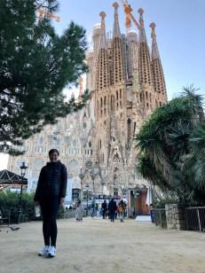 Sagrada Familia Barcelona z parku