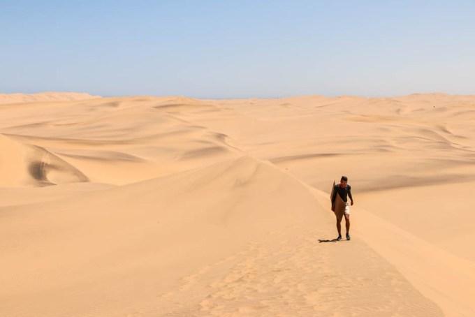 Sandboarding Swakopmund powrót