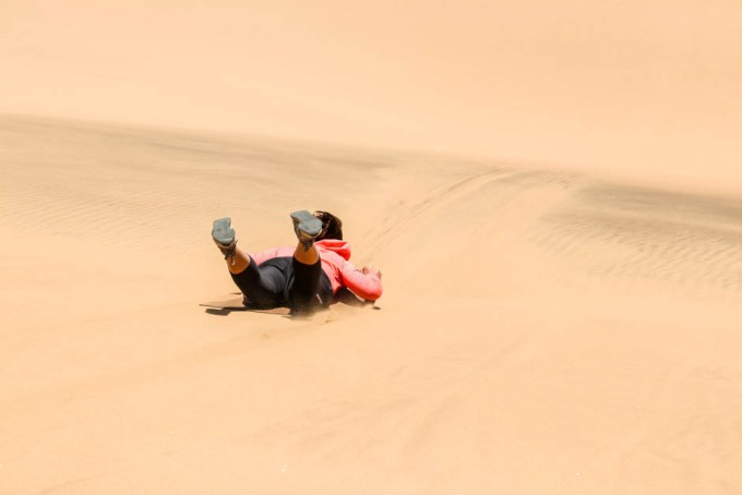 Sandboarding Swakopmund zjazd