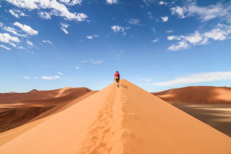 Wspinaczka na Dune 45 Namibia