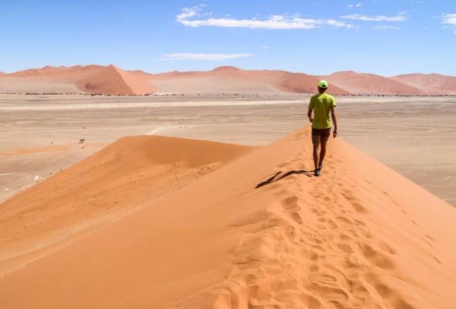 Zejście z Dune 45 Namibia