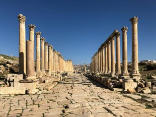 Jerash ulica z kolumnami