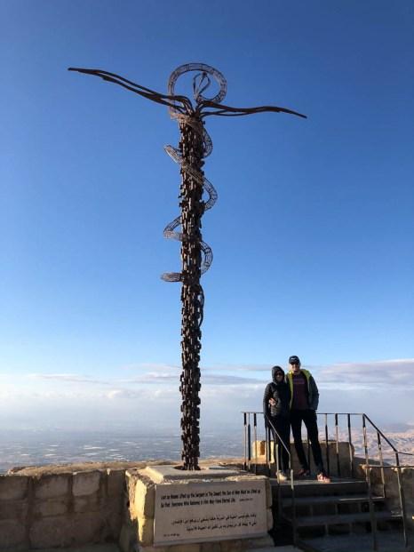 Krzyż wężowy z brązu Góra Nebo