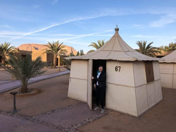 Namioty w obozie beduińskim Wadi Rum