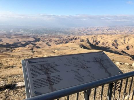 Panorama Ziemi Świętej Góra Nebo Jordania