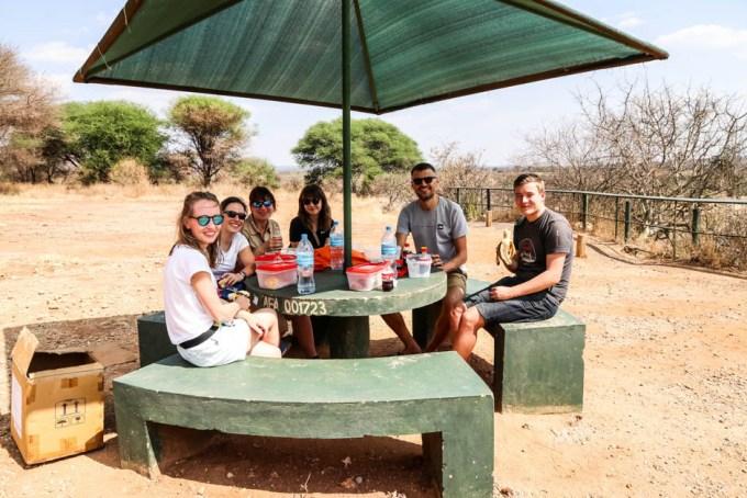 Tanzania PN Tarangire lunch przerwa