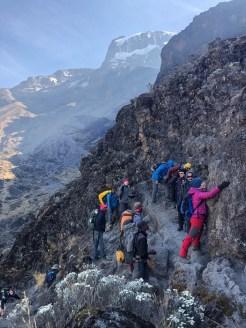 Tanzania trekking Kilimananjaro kissing rock