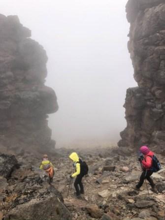 Trasa Machame zejscie z lava tower