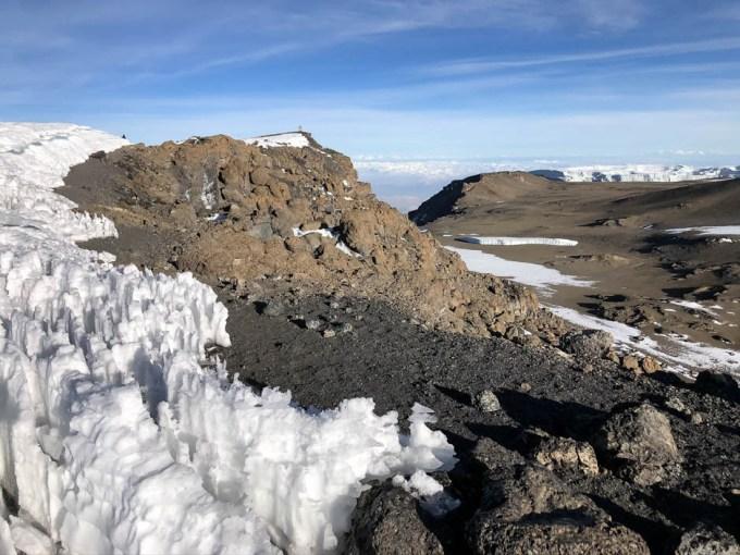 Trekking Kilimandzaro atak szczytowy widac koniec
