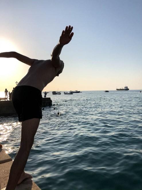Zanzibar skoki do wody 2