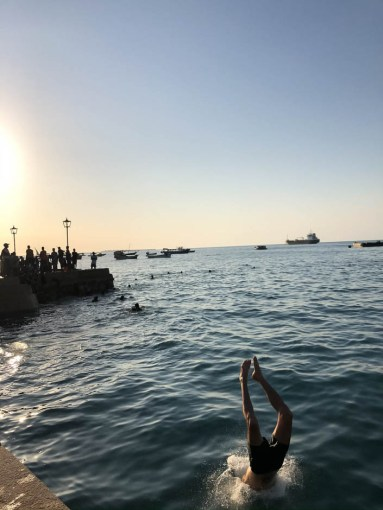 Zanzibar skoki do wody 3