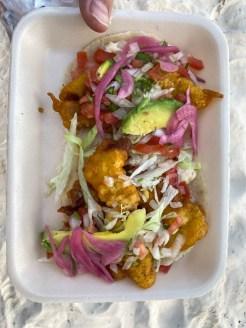 Tulum tacosy rybne i z krewetkami