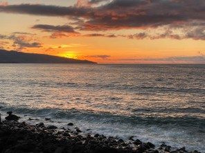 Plaża Santa Bárbara zachód słońca