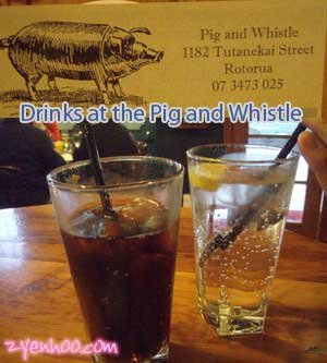 Drinks at the Pig and Whistle