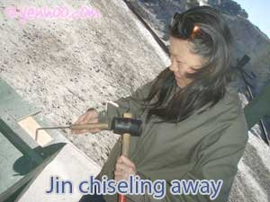 Jin chiseling away