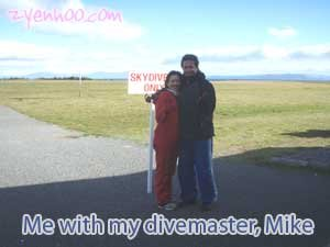 Me with my divemaster, Mike