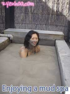 Me enjoying a mud spa
