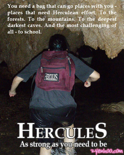 Self-made advertisement for the Hercules bag, starring yours truly!!! :D