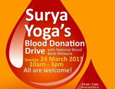 Surya Yoga's blood donation drive