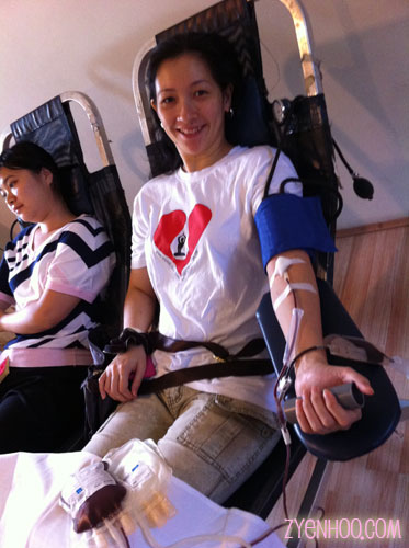 Me donating blood