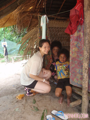 Me with some of the children in the Orang Asli village