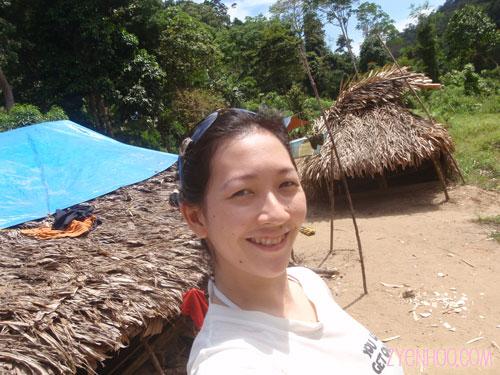 Me in the Orang Asli village