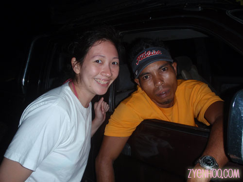 Me with our driver