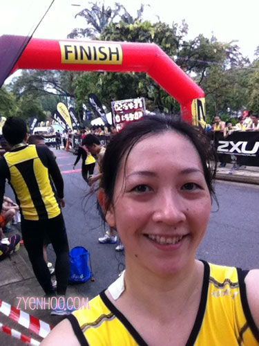 Selfie at the Finish line!