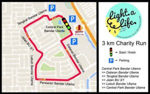 The 3km route