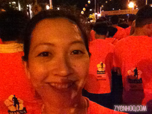 My customary selfie at the Start Line!
